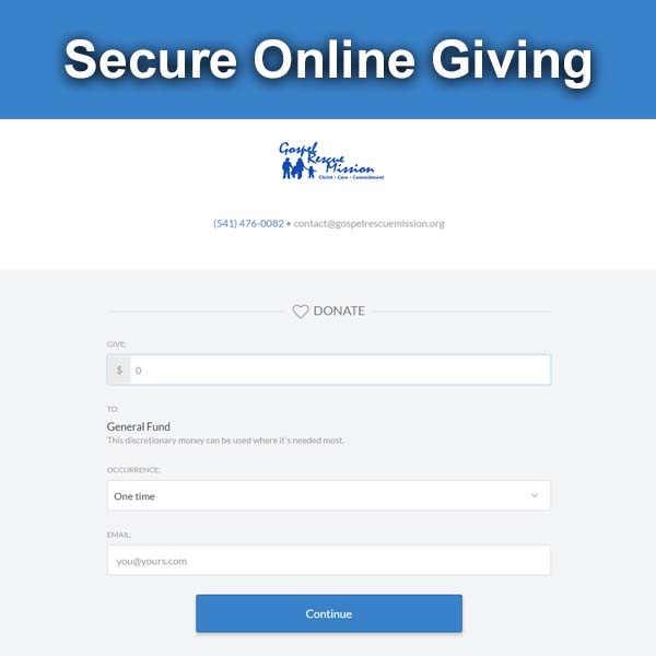 Secure Online Giving