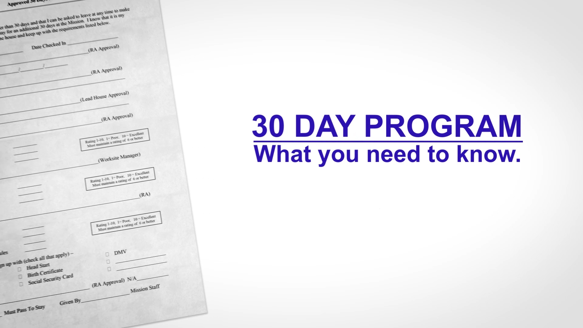 How the 30 Day Program Works